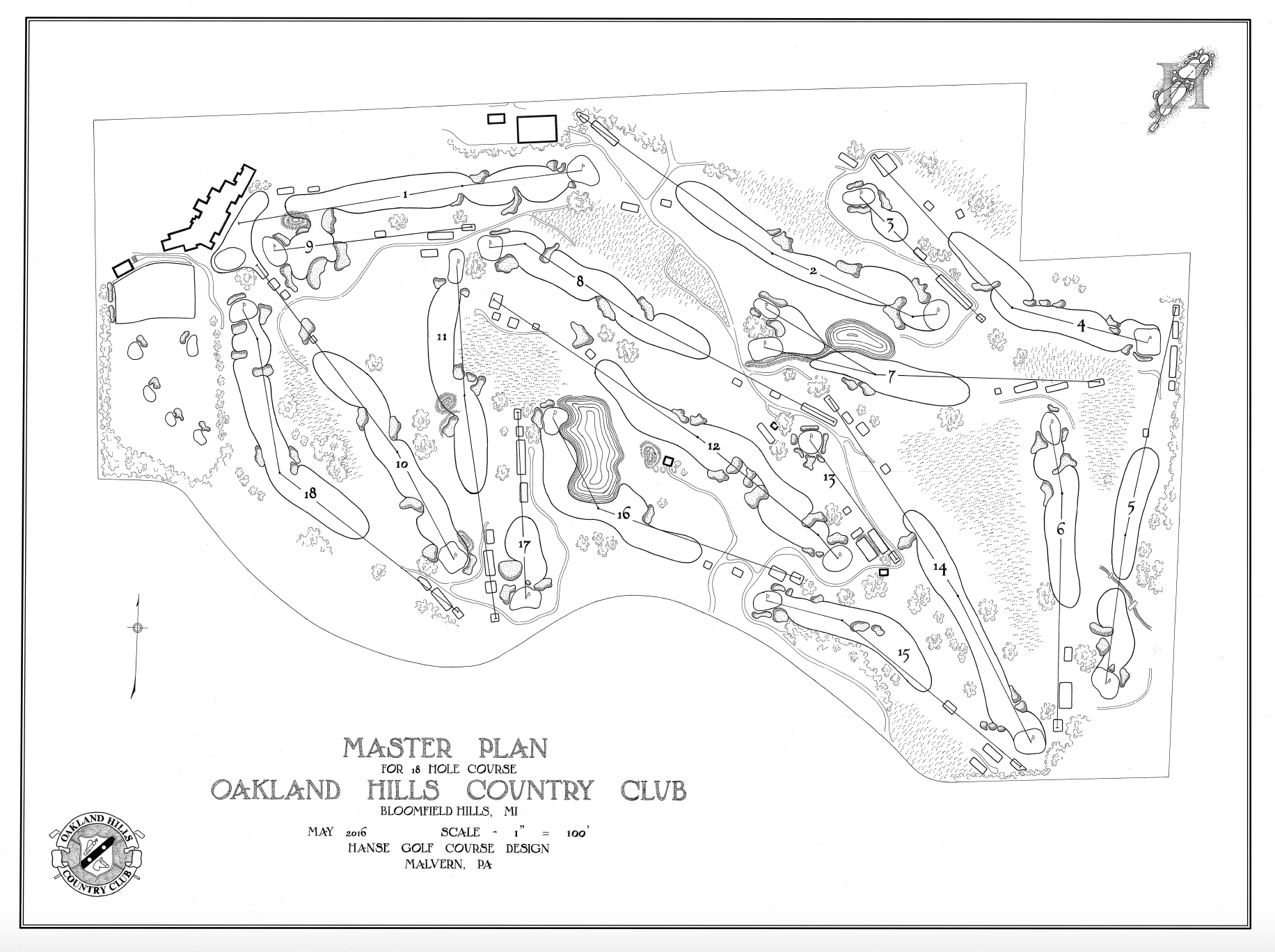 Oakland Hills Country Club  U2013 Hanse Golf Course Design